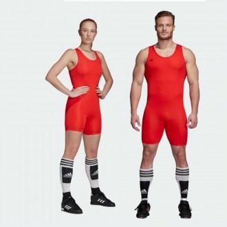 Vzpěračský / powerlifterský dres adidas red 2019