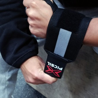 Zpevňovač zápěstí Wrist Wraps Picsil - černý