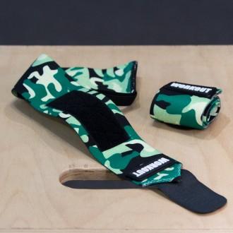 Bandáže zápěstí 30 cm WORKOUT - Green Camo