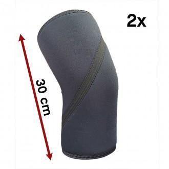 Bandáž kolene WORKOUT 7 mm - pár - dlouhé / černé