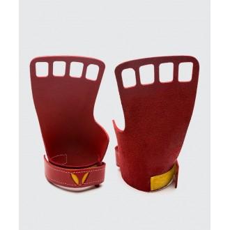 Pánské kožené mozolníky Victory grips 4-prsté - red