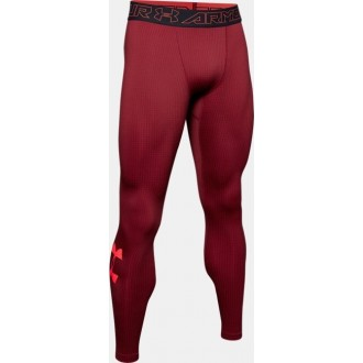 Mens ColdGear Armour Leggings red
