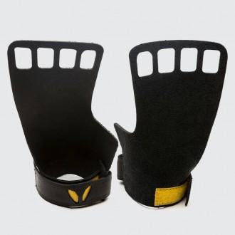 Pánské kožené mozolníky Victory grips 4-Finger - Black