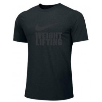 Pánské tričko Nike Weightlifting Big Swoosh - černé/černé