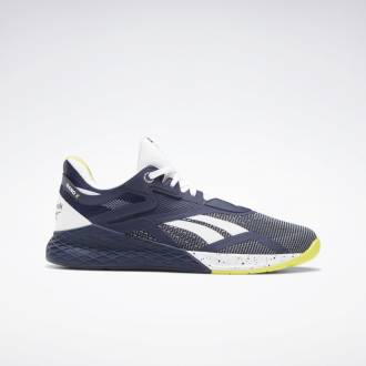 Pánské boty Reebok CrossFit Nano X - Modrá/Bílá/Žlutá - FW8473