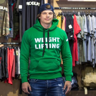 Pánská mikina Weightlifting eco fleece - zelená