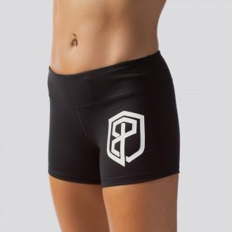 Dámské šortky Renewed Vigor Booty Shorts (Black w/ White Logo)