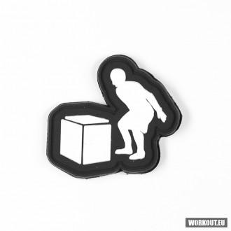 Nášivka se suchým zipem WORKOUT - Box jump 5 x 5 cm